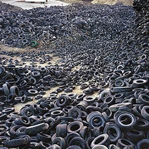Trituração de pneus